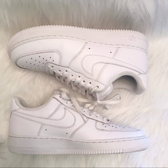 Women's white Air Force ones size 9.